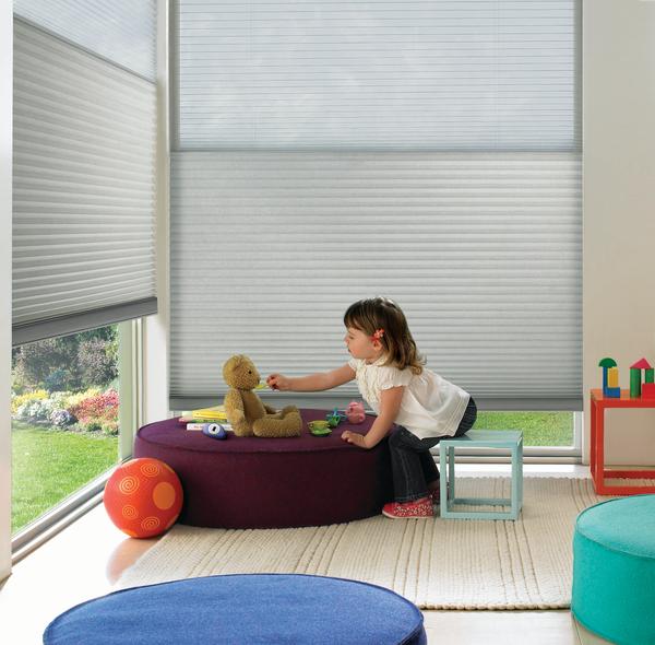 Child-Safe Window Treatments -Cellular Honeycomb Shades