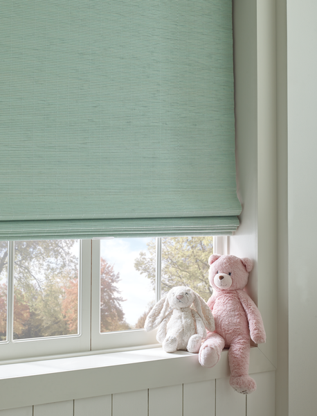 Child-Safe Window Treatments - Wood Woven Shades